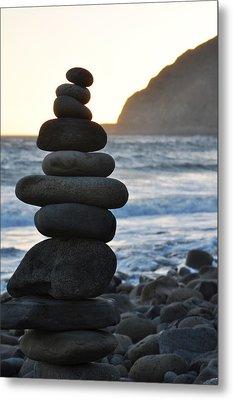 Metal Print featuring the photograph Malibu Balanced Rocks by Kyle Hanson