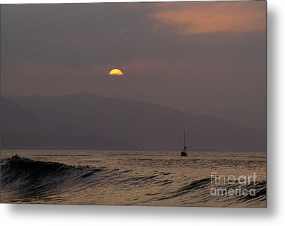 Malibu Sunrise Metal Print by Marc Bittan
