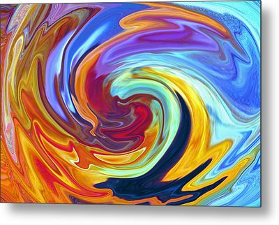 Metal Print featuring the painting Malibu Waves by Jennifer Godshalk