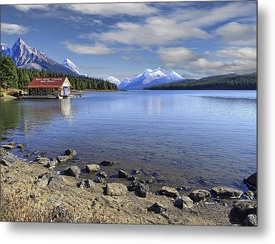 Maligne Lake -- Jasper Alberta Canada Metal Print by Daniel Hagerman