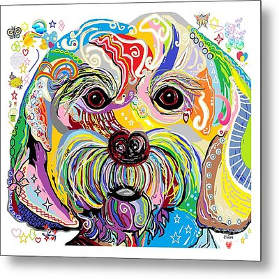 Maltese Puppy Metal Print