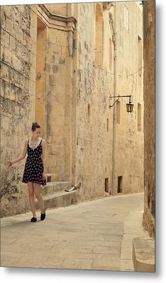 Maltese Streets Metal Print by Cambion Art