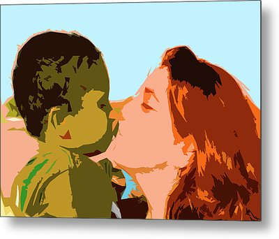 Mama And Me Metal Print by Josy Cue