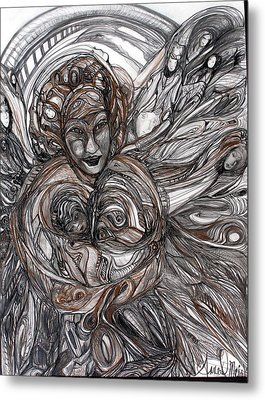 Mamie Metal Print by Anne-D Mejaki - Art About You productions