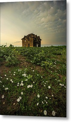 Metal Print featuring the photograph Mammatus And Flowers  by Aaron J Groen