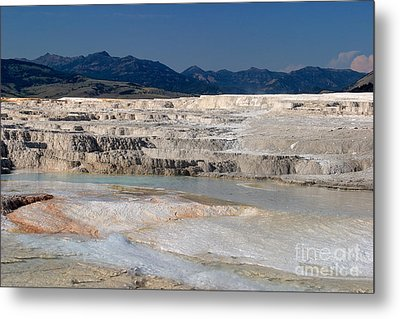 Metal Print featuring the photograph Mammoth Terrace Layers by Charles Kozierok
