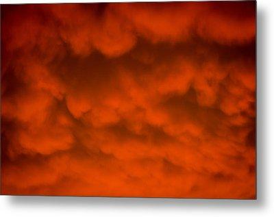 Mammutus Clouds Sunset Metal Print