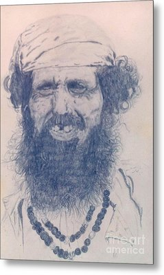 Man From Madigascar Metal Print by Ron Bissett