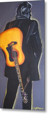 Man In Black's Back Metal Print