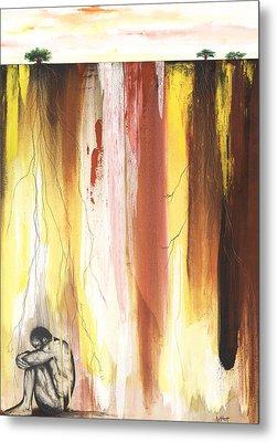 Man In The Corner  Metal Print by Anthony Burks Sr