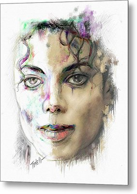 Michael Jackson Man In The Mirror Metal Print by Mark Tonelli
