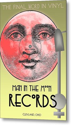 Man In The Moon Metal Print by Steven Boland