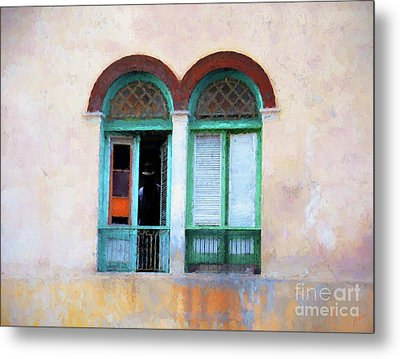 Metal Print featuring the mixed media Man In The Shadows by Jim  Hatch