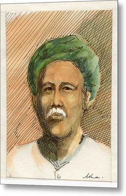 Man In Turban Metal Print