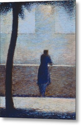 Man Leaning On A Parapet Metal Print by Georges Pierre Seurat