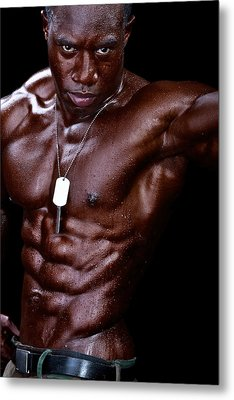 Man Made Of Dark Chocolate Metal Print