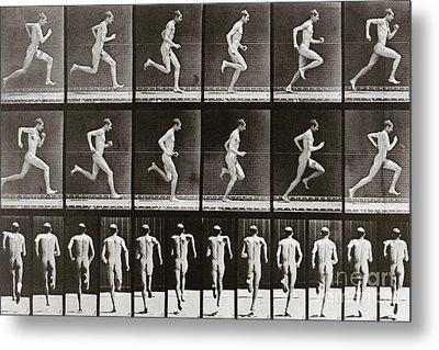 Man Running, Plate 62 From Animal Locomotion, 1887 Metal Print