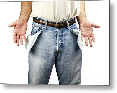 Man With Empty Pockets Metal Print