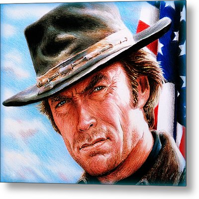 Man With No Name Colour Metal Print by Andrew Read
