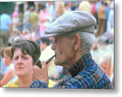 Metal Print featuring the photograph Man With Pipe by Douglas Pike