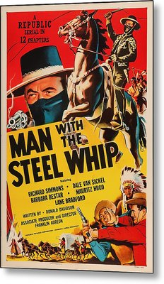 Man With The Steel Whip 1954 Metal Print