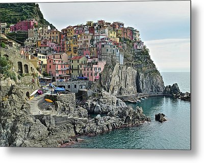 Metal Print featuring the photograph Manarola Version Three by Frozen in Time Fine Art Photography