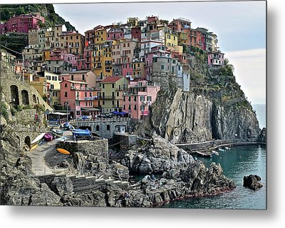 Metal Print featuring the photograph Manarola Version Two by Frozen in Time Fine Art Photography