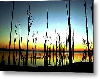 Manasquan Reservoir At Dawn Metal Print by Bob Cuthbert