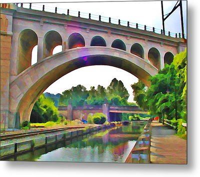 Manayunk Canal Metal Print by Bill Cannon