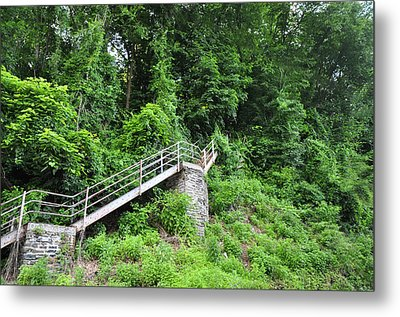 Manayunk - Steps From The Wissahickon Train Station Metal Print by Bill Cannon