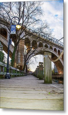 Manayunk - Towpath And Bridge Metal Print by Bill Cannon