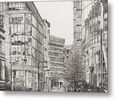 Manchester  Deansgate Metal Print by Vincent Alexander Booth
