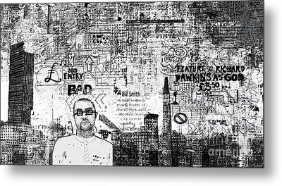 Manchester Graffito Metal Print by Andy  Mercer