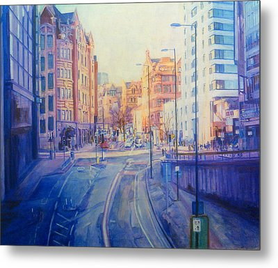Manchester Light And Shade Metal Print