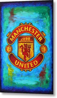 Manchester United Vintage Metal Print