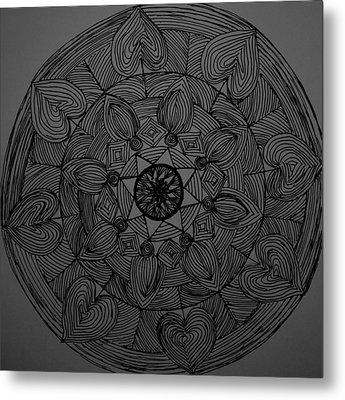 Mandal 1 Metal Print by Usha Rai