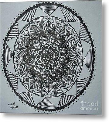 Mandal Metal Print by Usha Rai