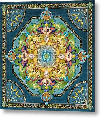 Mandala Arabesque Metal Print by Bedros Awak