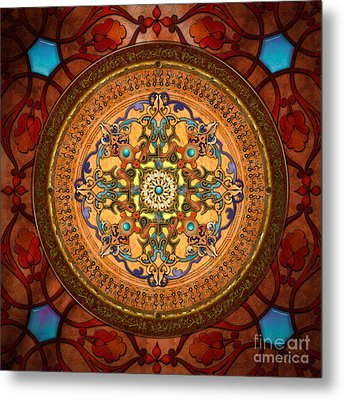 Mandala Arabia Metal Print by Bedros Awak