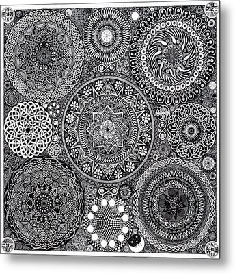Mandala Bouquet Metal Print by Matthew Ridgway