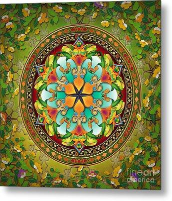 Mandala Evergreen Metal Print