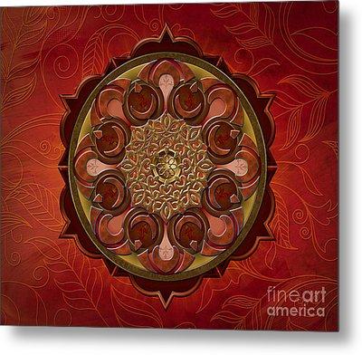 Mandala Flames Sp Metal Print