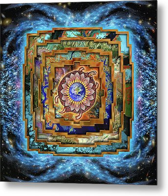 Mandala Gaia Metal Print by Mark Myers