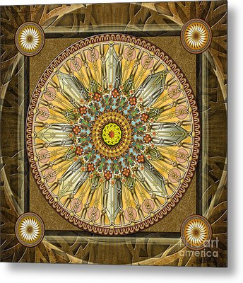 Mandala Illumination V1 Metal Print by Bedros Awak