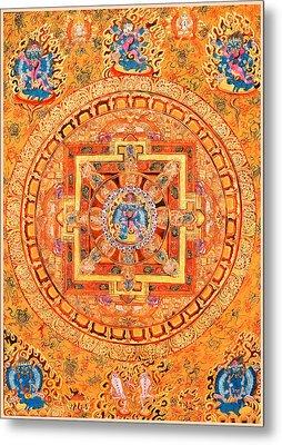 Mandala Of Heruka In Yab Yum Metal Print