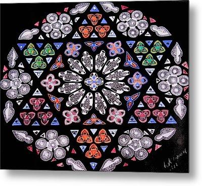Mandala Of Hope Phase 2 Metal Print by Lisa Brandel