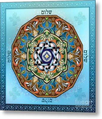 Mandala Shalom Metal Print