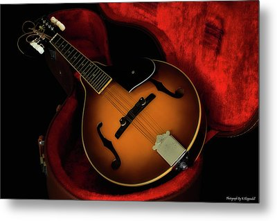 Mandolin Guitar 66661 Metal Print
