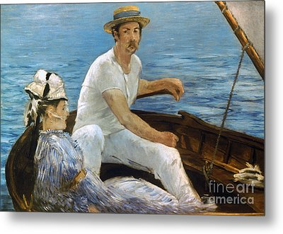 Manet: On A Boat, 1874 Metal Print by Granger