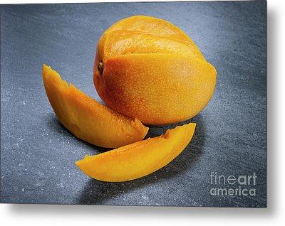 Mango And Slices Metal Print by Elena Elisseeva